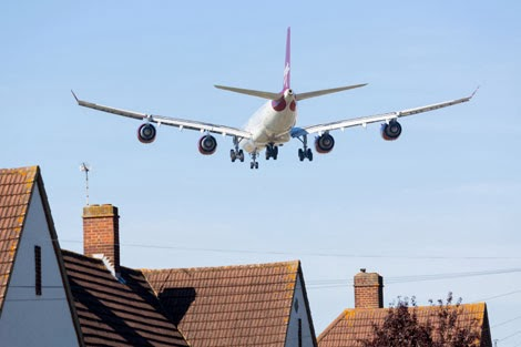 Aircraft noise linked with heart problems