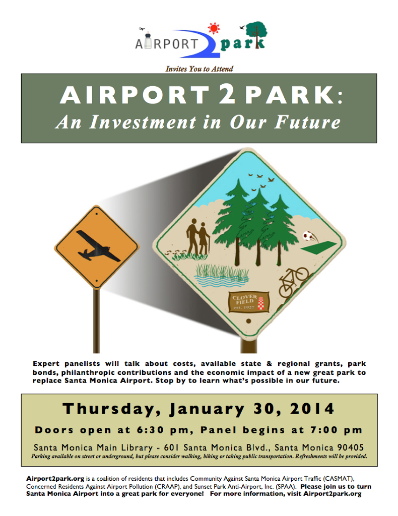 Airport2Park – Experts to Brainstorm finance plan for airport great park