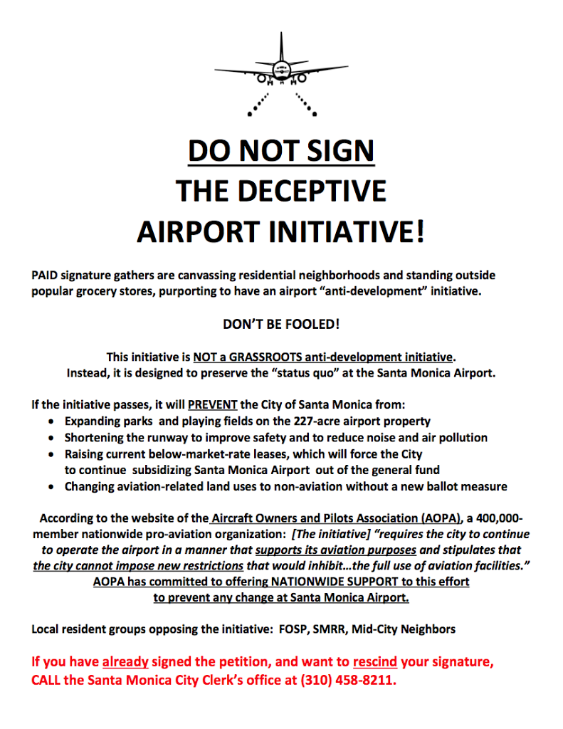 Why you should not sign the airport initiative