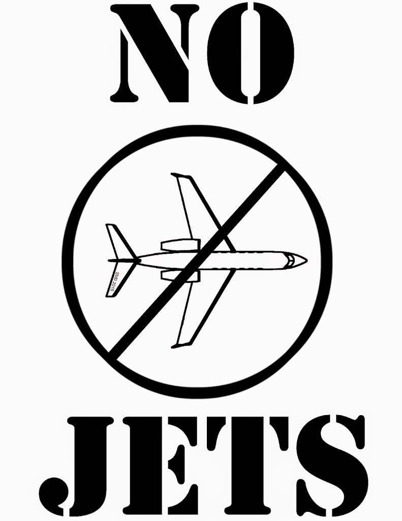 "Free ""NO JETS"" signs"